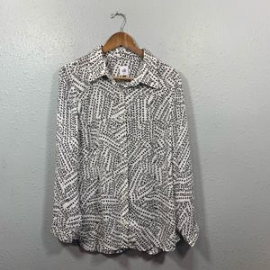 CAbi Button Down Blouse Size M Style #3255